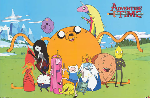Adventure Time Cartoon Poster