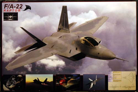 F/A-22 Raptor Fighter Aircraft 24x36 Poster