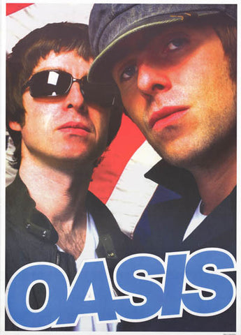 Oasis Gallagher Brothers Liam and Noel Music Poster 25x35