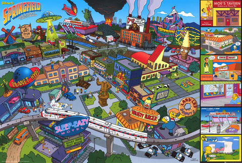 The Simpsons Welcome to Springfield Poster