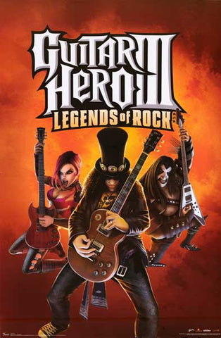 Guitar Hero III Video Game Poster