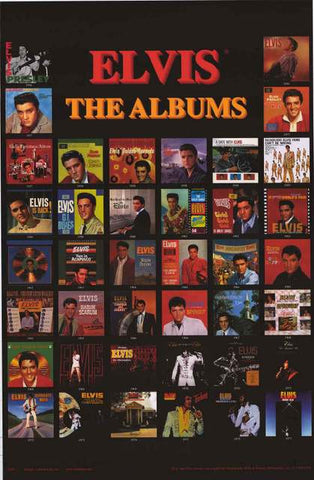 Elvis Presley Album Covers Poster