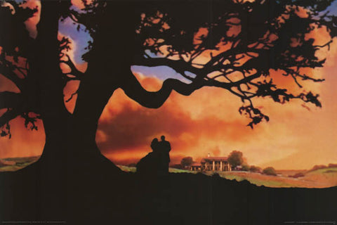 Gone with the Wind Silhouettes Poster