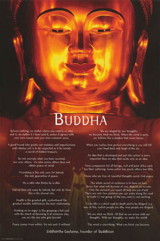 Buddha Quotes Inspirational Poster