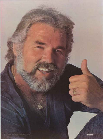 Kenny Rogers Portrait Poster