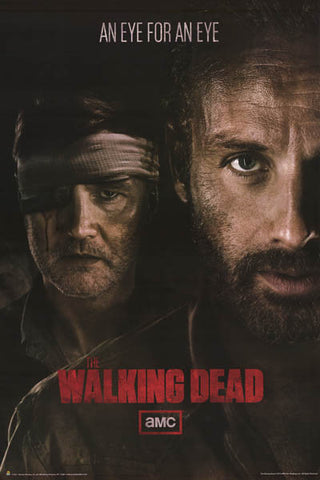 Walking Dead Eye for Eye Grimes & Governor 24x36 Poster