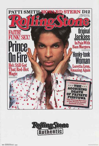 Prince Rolling Stone Magazine Poster