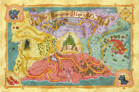 Wizard of Oz Map Poster