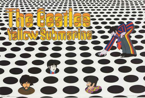 Beatles Yellow Submarine Sea of Holes Poster 22x34