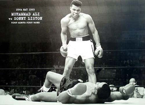 Muhammad Ali vs Sonny Liston XL 40x60 Giant Poster