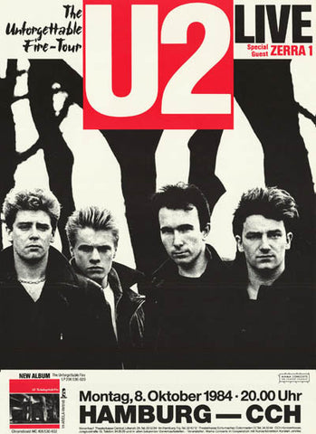 U2 Unforgettable Fire Tour Poster