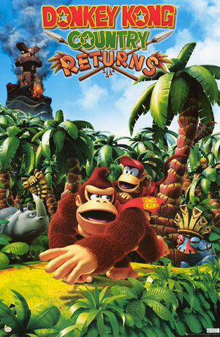Donkey Kong Video Game Poster