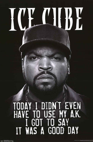 Ice Cube It Was A Good Day Poster