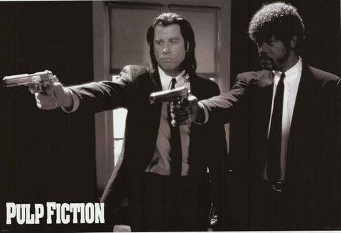 Pulp Fiction Jules and Vincent Guns XL Giant Poster 39x54
