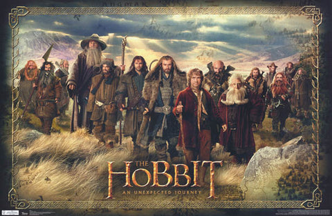 The Hobbit Bilbo Baggins Dwarves Poster