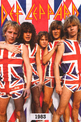 Def Leppard Rock Band Poster