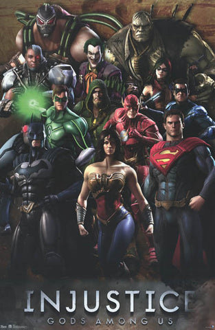 Injustice DC Comics Video Game Poster