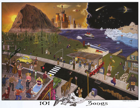 Phish 101 Songs Poster