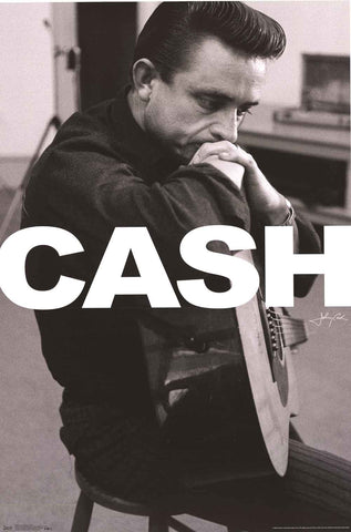 Johnny Cash in the Studio Poster