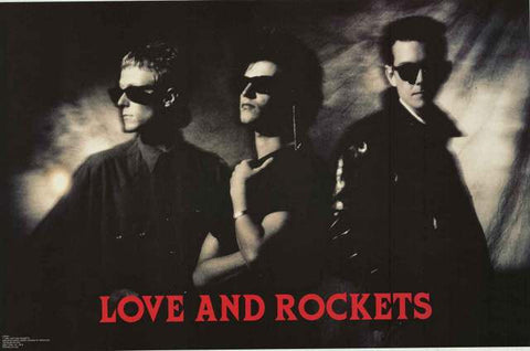 Love and Rockets Band Portrait 1989 Poster 23x34