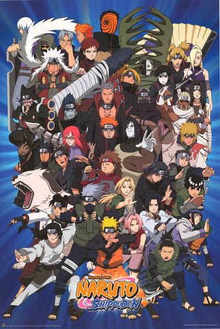 Naruto Shippuden Cartoon Poster