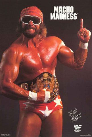 Macho Man Randy Savage WWF Poster
