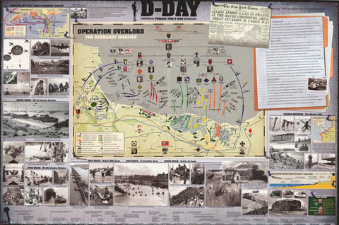 World War II D-Day Invasion Poster