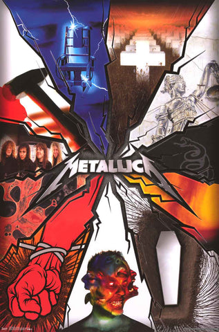 Metallica Album Covers Poster