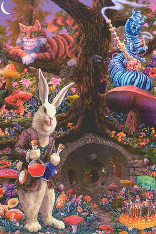 Alice in Wonderland Tom Masse Poster