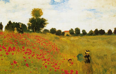 Claude Monet Poppy Field Poster