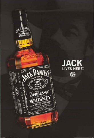 Jack Daniels Lives Here Poster 24x36