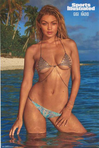 Gigi Hadid Sports Illustrated Swimsuit Poster