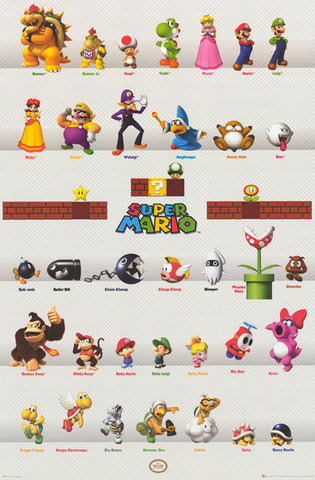 Super Mario Brothers Poster