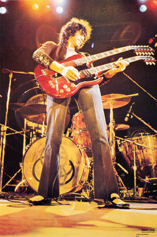 Led Zeppelin Jimmy Page Guitar Poster