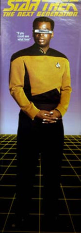Star Trek Geordi La Forge Poster