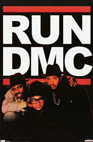 Run DMC Old School Classic Hip Hop 23x34 Poster