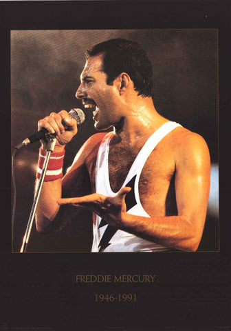 Queen Freddie Mercury Tribute Poster
