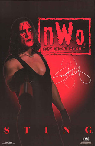 Sting WCW Wrestling Poster