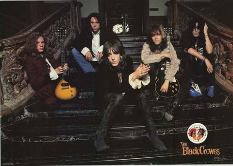 Black Crowes Band Portrait 1990 Poster 23x33