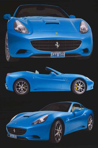 Ferrari California Car Poster
