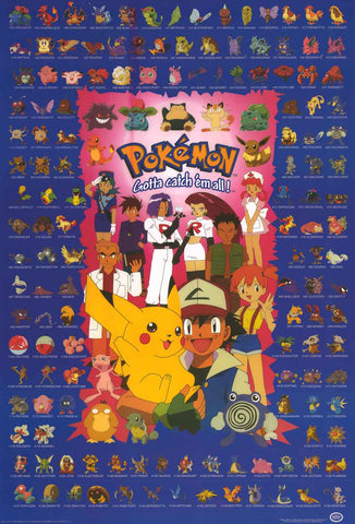 Pokemon Anime Cartoon Poster