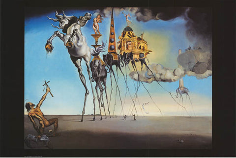 Salvador Dali Temptation of St Anthony Poster