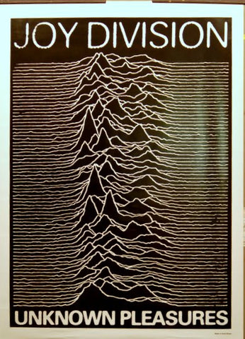 JOY DIVISION UNKNOWN PLEASURES W/ BORDER 25x35 POSTER