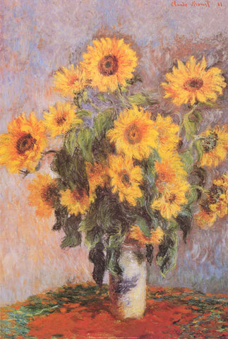 Claude Monet Bouquet of Sunflowers Poster