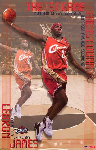 LeBron James Slam Dunk Poster