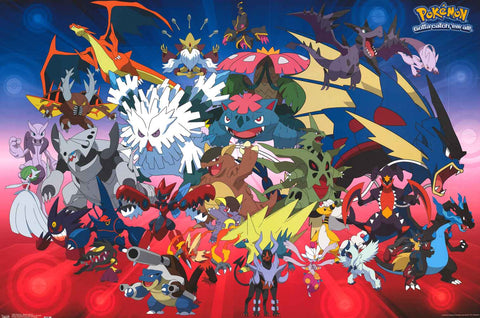 Pokemon Mega Evolution Poster