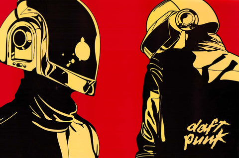 Daft Punk Helmets Pop Art Poster 24x36