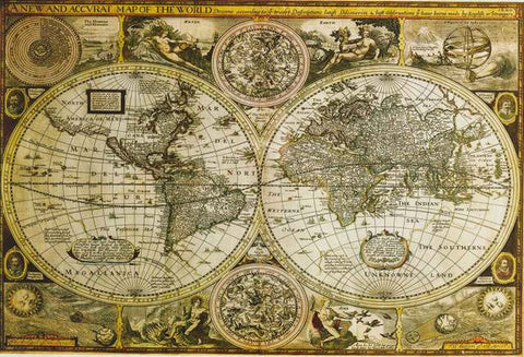 Historical World Map Poster