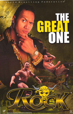 The Rock WWF Wrestling Poster