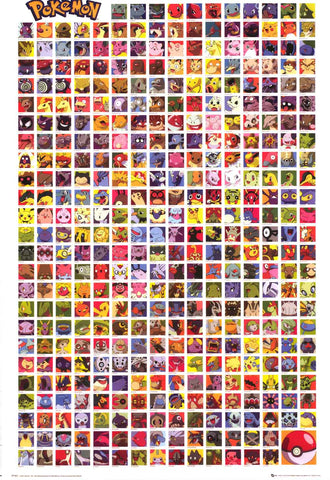 Pokemon Characters Poster